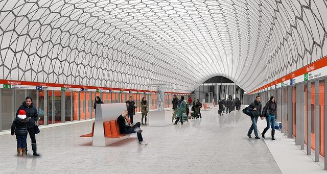 Länsimetron arvellaan avautuvan runsaan vuoden myöhässä syyskuussa. Espoon Matinkylän aseman havainnekuva.