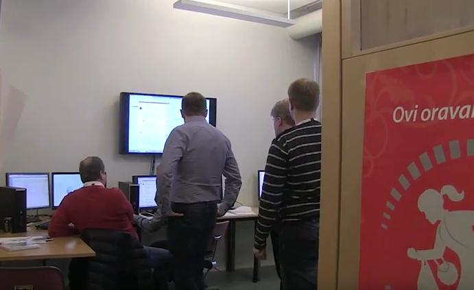 Kuvakaappaus videosta, jossa kerrotaan kyberturvallisuusharjoituksesta Jyväskylässä.