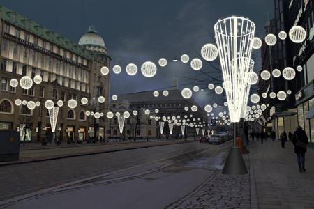 Helsinki laajentaa jouluvalopeittoa kaupungin ydinkeskustassa.
