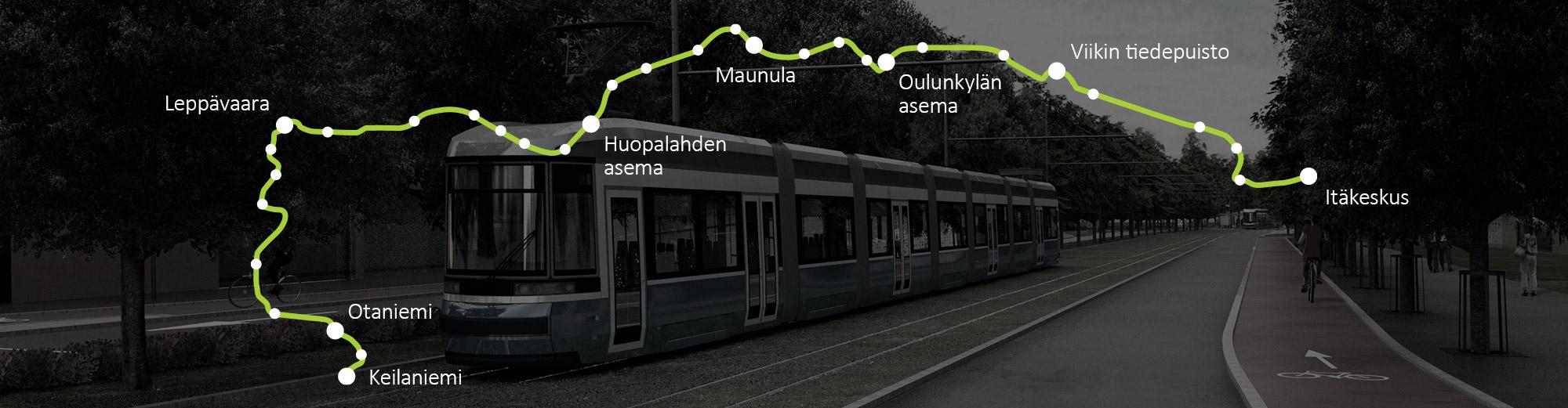 Pikaraitiolinja Raide-Jokeri tulee korvamaan nykyisen runkobussilinjan, 550:n, joka on Helsingin seudun vilkkaimmin liikennöity bussilinja.