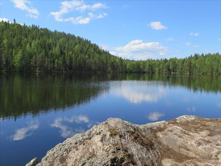 """Metsähallituksen luontopalveluiden """"Terveys ja hyvinvointi"""" -ohjelma tukee ihmisten luonnossa liikkumista ja sen tuomia hyvinvointi- ja terveysvaikutuksia. (Kuva: Keski-Suomen liitto)"""