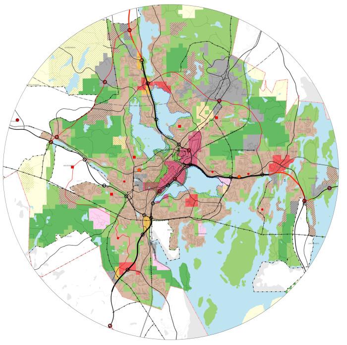 Ruututekniikka hämärtää Jyväskylän yleiskaavaehdotuksessa erilaisten alueiden rajoja puoli kilometriä tai enemmänkin. Sen toivotaan vähentävän kiistoja, jotka koskevat tarkkoja aluerajauksia.
