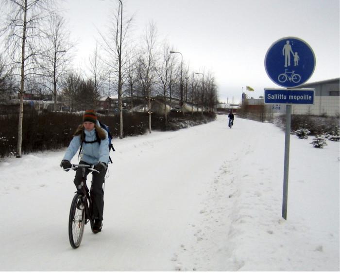 Oulussa kolmannes pyöräilijöistä jatkaa ajamista ympäri vuoden.