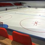 Havainnekuva uuden jääareenan katsomosta. Jääurheilukäytössä katsomokapasiteetti on 742 henkilöä.