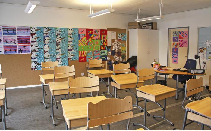 Mäntsälän Hyökännummen pihakoulun henkilökunta on tyytyväinen opetustilojen toimivuuteen, valoisuuteen ja erillisiin pienryhmätiloihin.