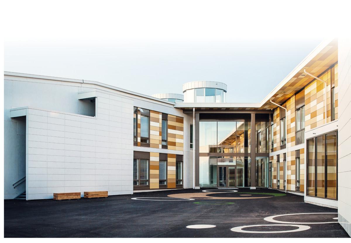 Kastellin monitoimitalo Oulussa edustaa modernia oppimisympäristöä. Se palkittiin viime marraskuussa RIL-palkinnolla.