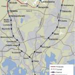 Kehärata yhdistää Martinlaakson radan ja pääradan. Samalla lentoasemalle saadaan raideyhteys kahdesta suunnasta.