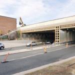 Matkakeskuksen terminaalialueen alittavalla Vesijärvenkadulla jouduttiin kevyen liikenteen kulkureittejä siirtämään useaan otteeseen rakentamisen aikana.