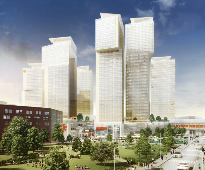 Helsingin Kalasataman REDI-hanke on esimerkki kohteesta, jossa kolmiulotteinen kiinteistönmuodostus olisi hyödyksi.