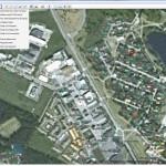 Etäluentajärjestelmässä olevien mittareiden näkymä Forssan karttapohjalla. Vesimittarit, joissa tiedonsiirtoyhteys tarkasteluhetkellä toimii, näkyvät vihreinä.