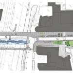 Uuden bussiterminaalin katusuunnitelma.