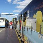 Hämeensillan pop-up bussiterminaali.