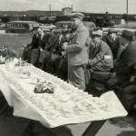 Ulkoilmakahveilla Porin vuosikokouksessa 1938.