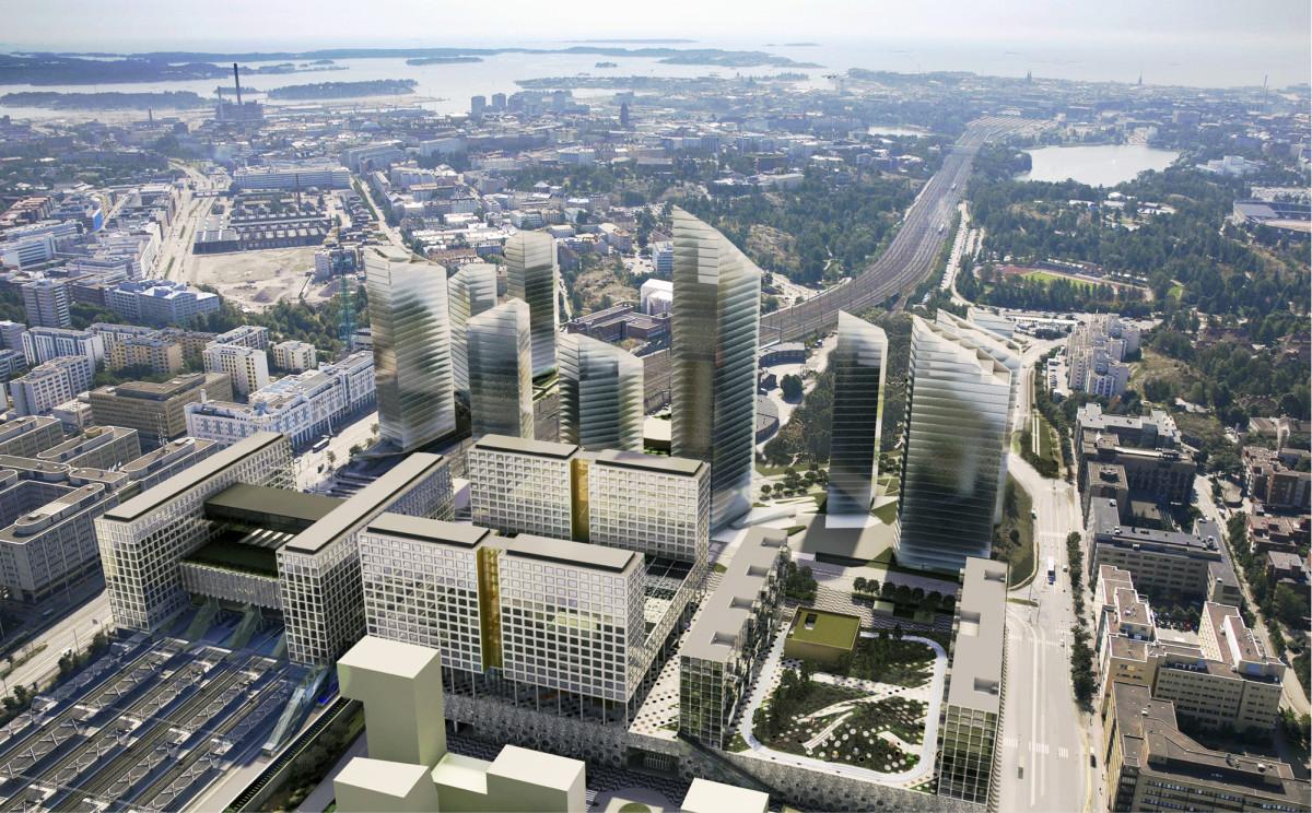 Keski-Pasilan rakentaminen on Kalasataman ohella Helsingin suurimpia infrahankkeita lähivuosina. Kuva: YIT