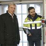 Lahti Aqua Oy:n toimitusjohtaja Martti Lipponen ja käyttöpäällikkö Janne Mäki-Petäjä ovat tyytyväisiä saneeratun Launeen vedenottamon tekniikkaan. Kuva: Paavo Taipale