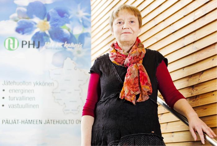 – Kierrättäminen ja se, että uudelleenkäyttö ylipäätään on mahdollista, alkaa tuotteiden suunnittelusta, käytettävistä materiaaleista ja valmistustekniikoista, sanoo Päijät-Hämeen Jätehuolto Oy:n toimitusjohtaja Tuula Honkanen.