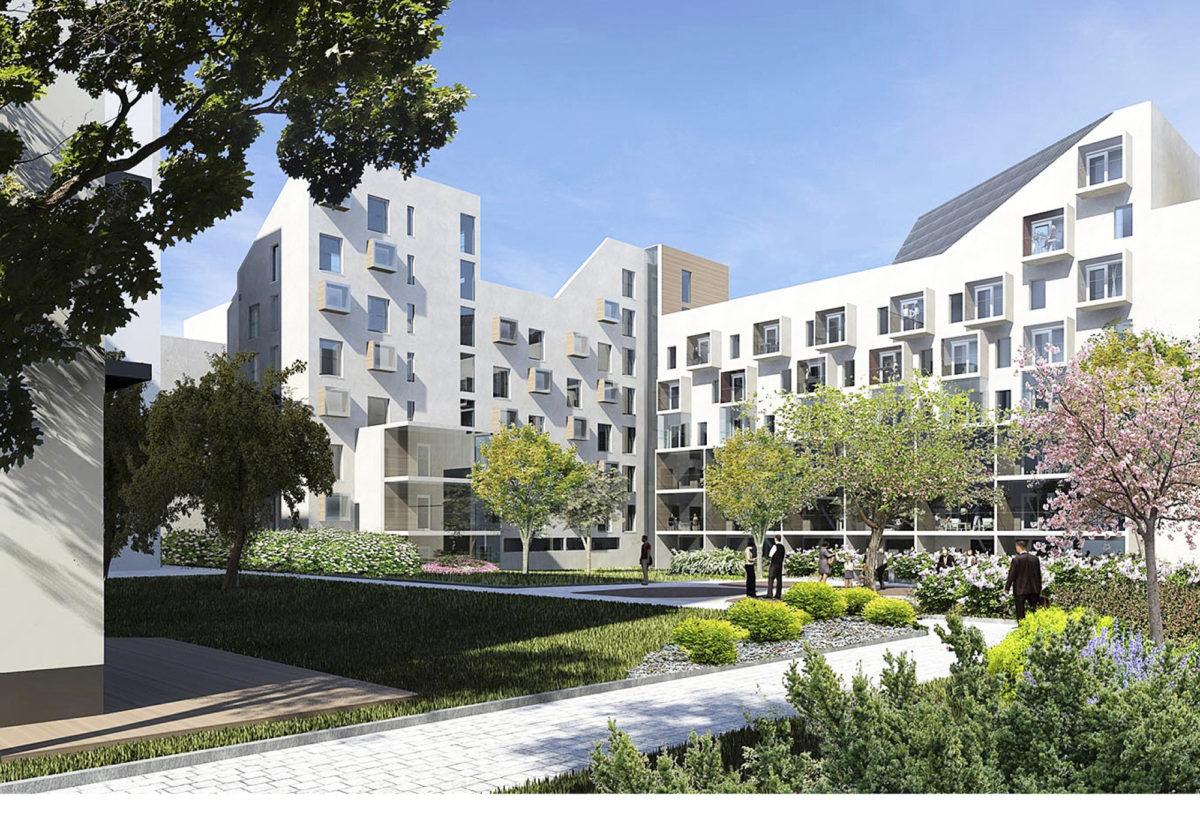 Ryhmärakennushankkeessa kiinnitetään suurta huomiota pihatiloihin korkeatasoisen arkkitehtuurin lisäksi.