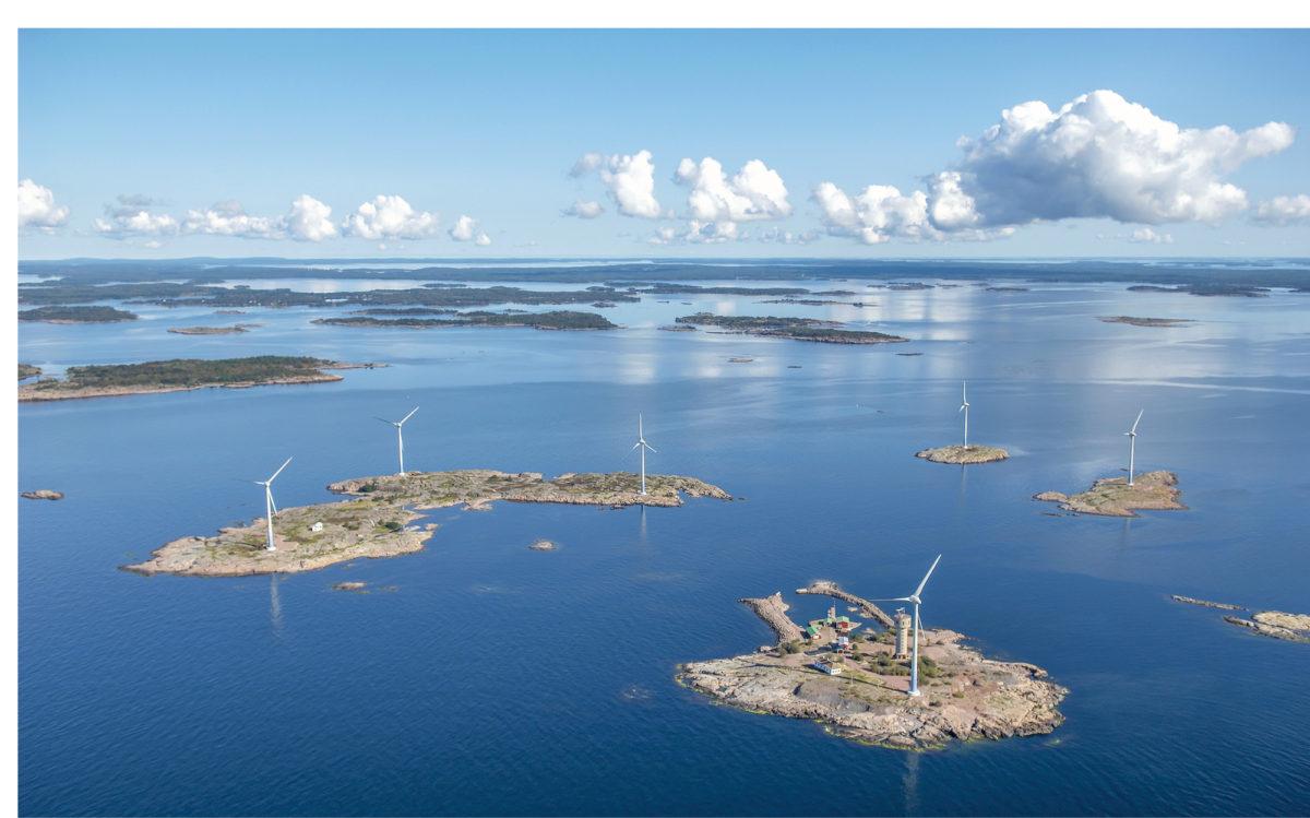 Båtskärin tuulivoimalat rakennettiin ilman yhteiskunnan tukia.