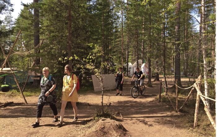 Roihu-leiri sijoittui Hämeenlinnan Evo-keskukseen keskelle vaihtelevaa luontoa.