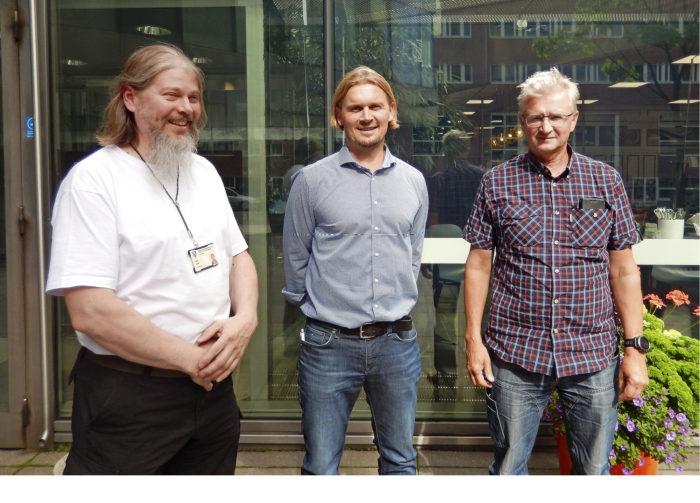 Koulutukselle on edelleen kova tarve, sanovat PKS katutyöt-koulutuksen vetäjät Pekka Ikonen (vas.), Petri Ojala ja Veli Keski-Kohtamäki. Porukasta puuttuu Jyrki Vättö Vantaalta.