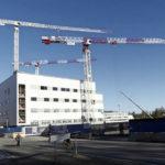 Taysin etupihahanke. SRV:n työmaa on yksi voittajaehdokas Rakennusteollisuusliitto RT:n valtakunnallisessa työturvallisuuskilpailussa tänä syksynä.